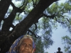 this woman stands under a Neem tree, a tree that Cargill seeds ( Monsanto)  attempted to patent