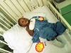 A \'Shell baby\'  in the Shell company hospital in Port Harcourt. While Shell employees are treated with 5 star treatment  the Ogoni and other tribes from where the oil is extracted have next to no health care at all.