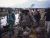 Hutu men in Kibumba  camp in 1995, Goma, Zaire. The immediate area was filled with 100\'s of thousands of Hutu refugees fleeing from the war in neighbouring Rwanda.